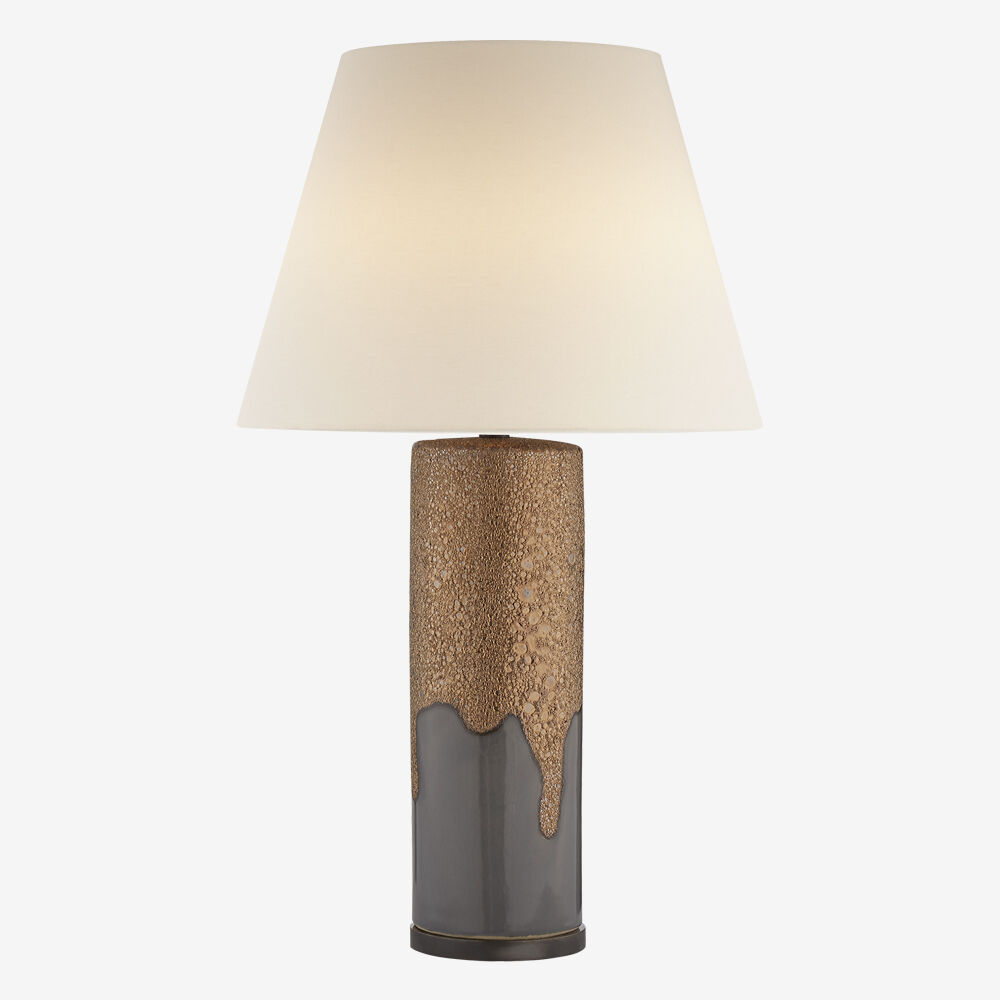 MARMONT TABLE LAMP - CHALK BURNT GOLD & DOVE GREY