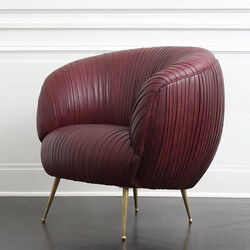 SOUFFLE CHAIR - BURGUNDY