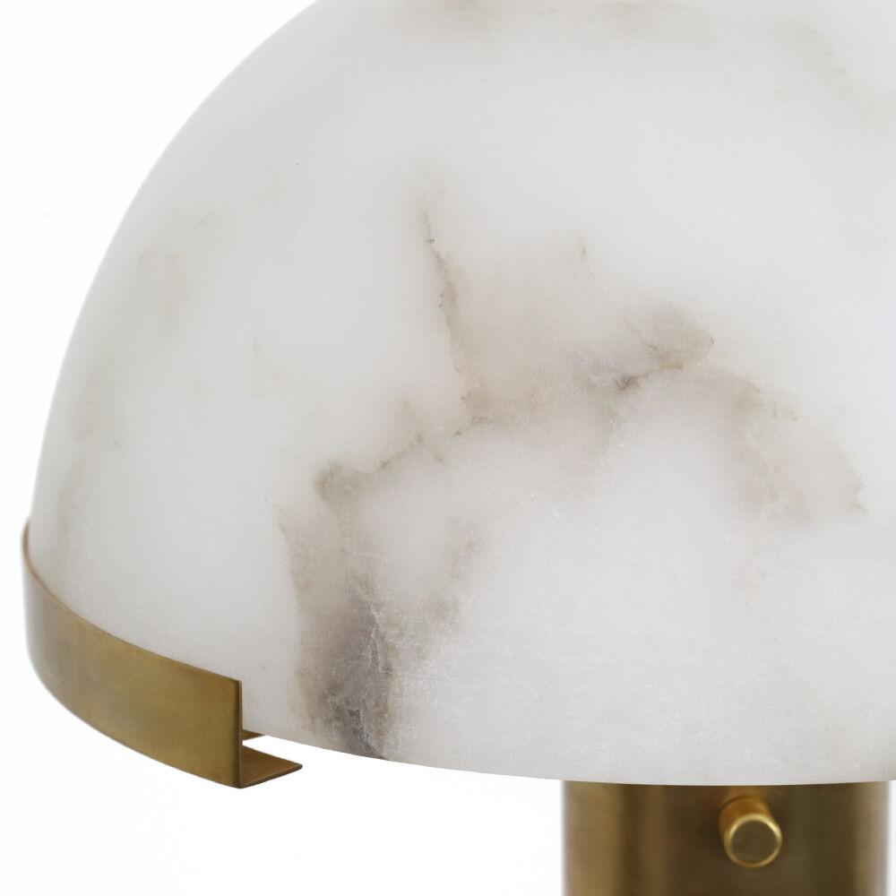 MELANGE TABLE LAMP - BRASS w/ ALABASTER