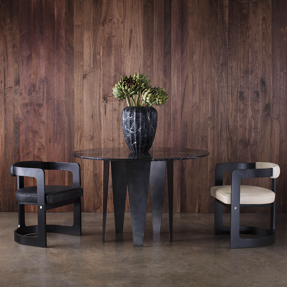 ZUMA DINING CHAIR - EBONIZED OAK w/ BUBBLY BLACK