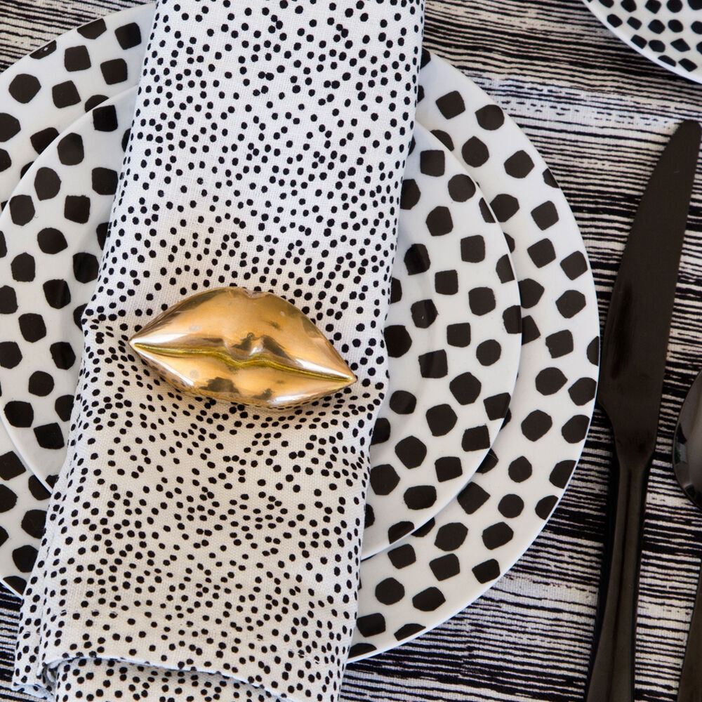 DOTS DINNER NAPKINS - BEIGE