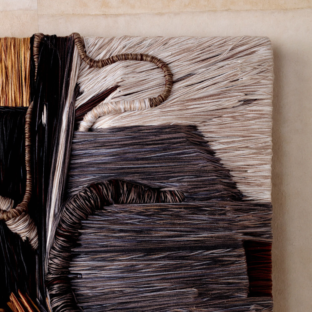 Entanglement Fiber Art Hanging