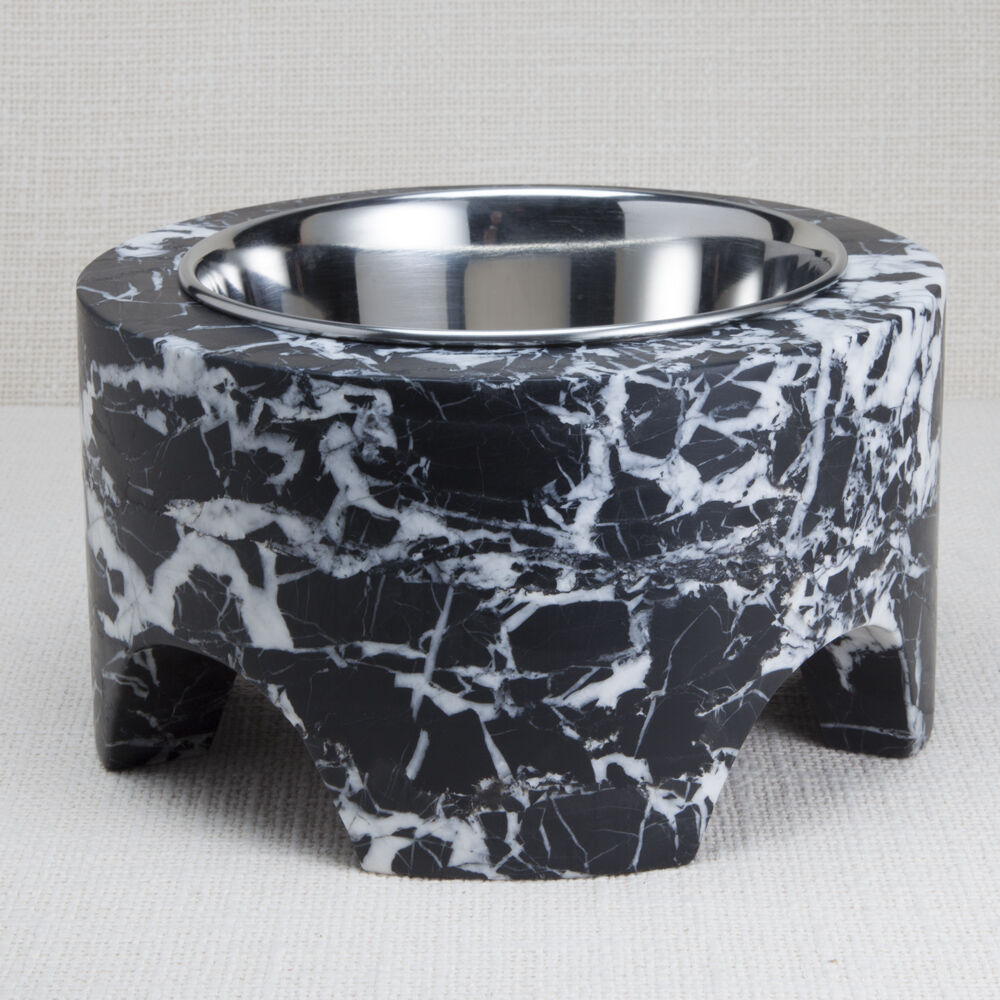 GRACIE SMALL DOG BOWL - NEGRO