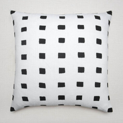 GRAPHIC SQUARES PILLOW - WHITE
