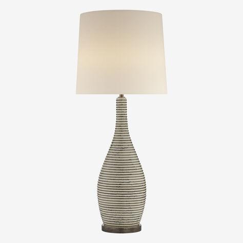 SONARA TABLE LAMP - IVORY & CHALK BLACK