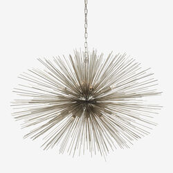 STRADA OVAL PENDANT - POLISHED NICKLE