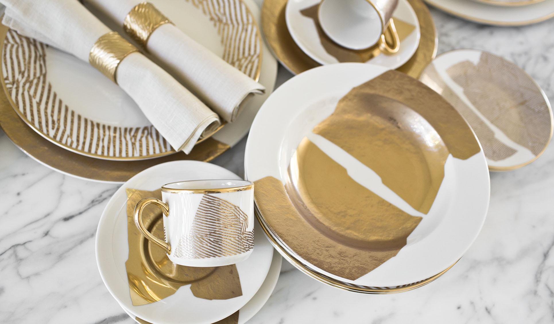 Doheny Fine Dinnerware 5 Piece Set & Doheny Fine Dinnerware 5 Piece Set | Kelly Wearstler