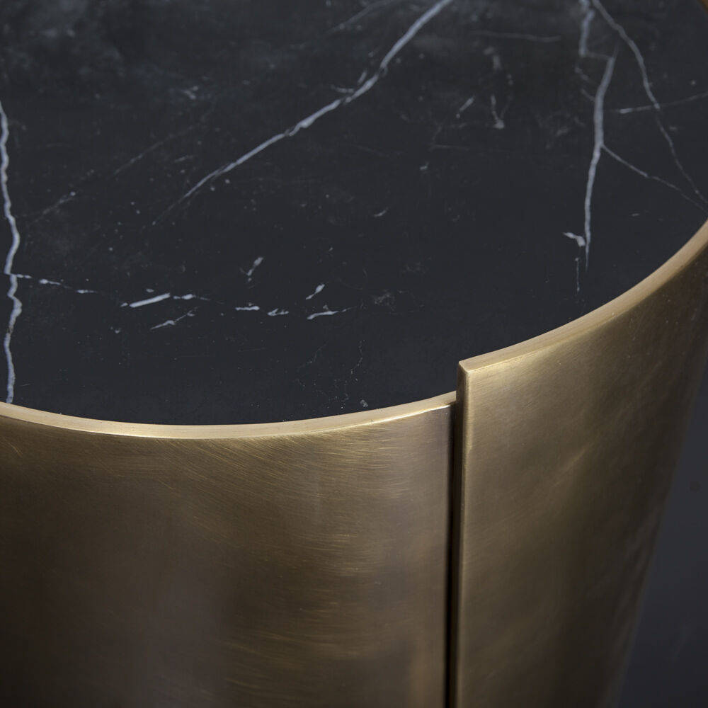 Alta Side Table By Kelly Wearstler - Brass drum side table