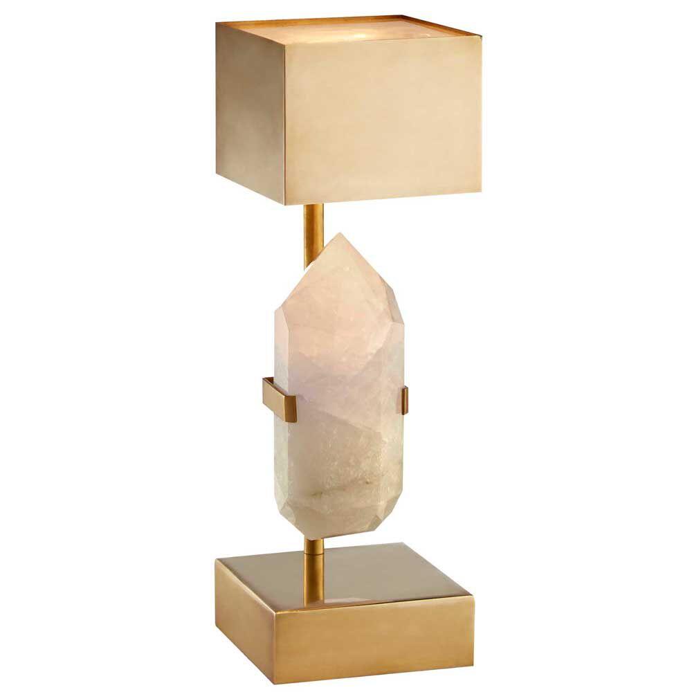 Halcyon desk lamp by kelly wearstler halcyon desk lamp quartz w brass aloadofball Image collections