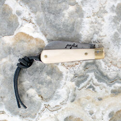 POGLIA POCKET KNIFE - BONE WHITE