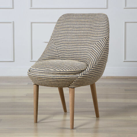 SONARA SIDE CHAIR - NAT OAK w/ MARTEL HAY