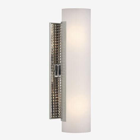 PRECISION CYLINDER SCONCE - POLISHED NICKLE