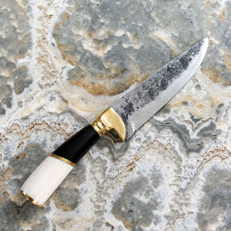POGLIA KNIFE - SMALL BONE & HORN STRIPE