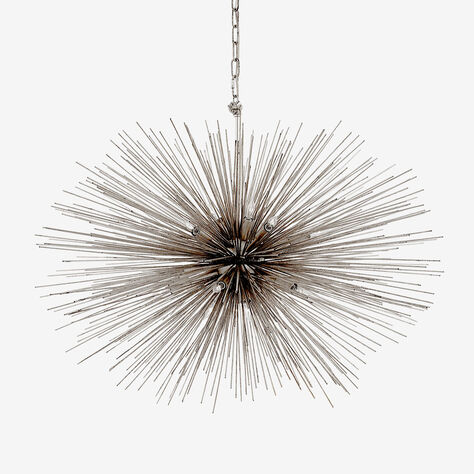 STRADA OVAL PENDANT - BURNISHED SILVER LEAF