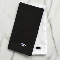 KISS DINNER NAPKINS - BLACK