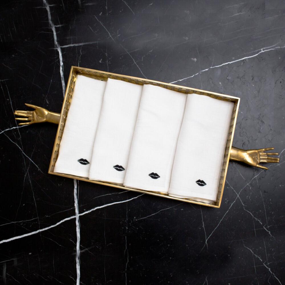 KISS DINNER NAPKINS - WHITE