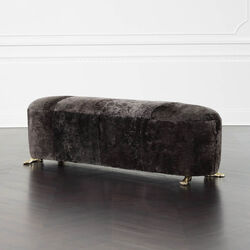 FOOT BENCH - MINK SHEARLING