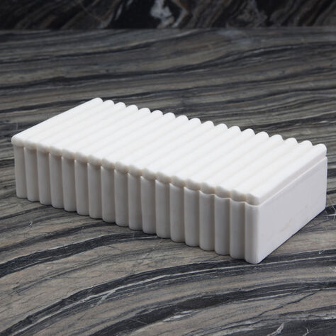 LAUREL RIBBED RECTANGULAR BOX