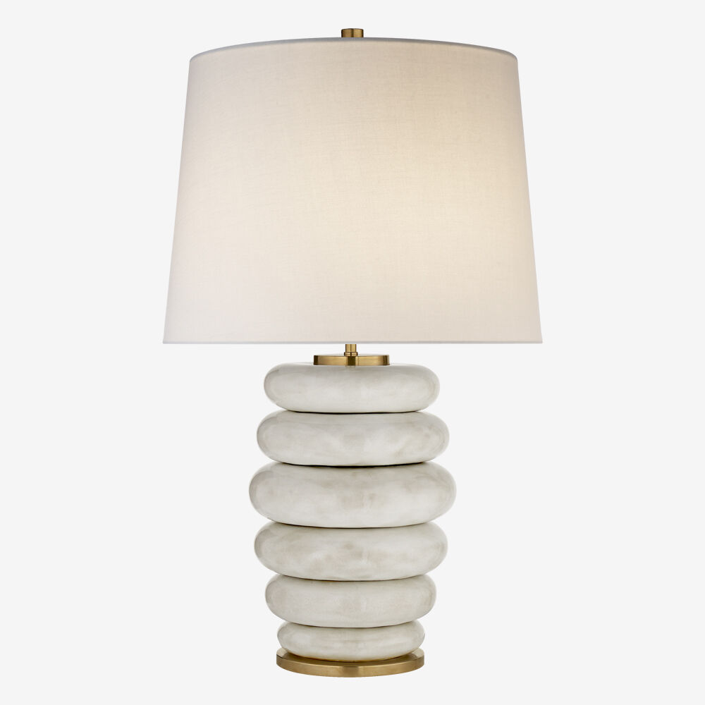 Phoebe stacked table lamp high end luxury design furniture and decor kelly wearstler