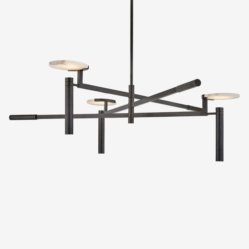 melange large floating disc chandelier  high end  luxury  design  furniture and decor