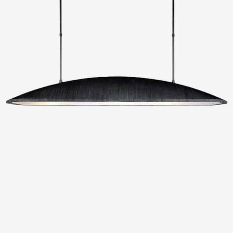 UTOPIA LARGE LINEAR PENDANT - AGED IRON