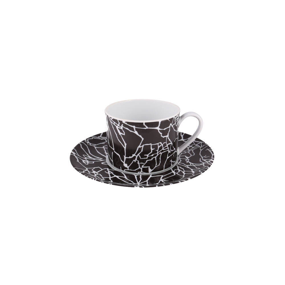 TRACERY TEA CUP AND SAUCER SET