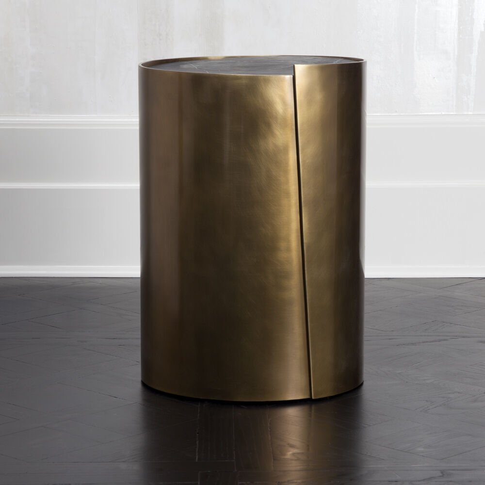 ALTA SIDE TABLE - BURN BRASS w/ NEGRO