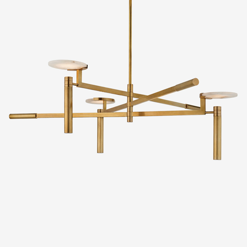 MELANGE LARGE FLOATING DISC CHANDELIER