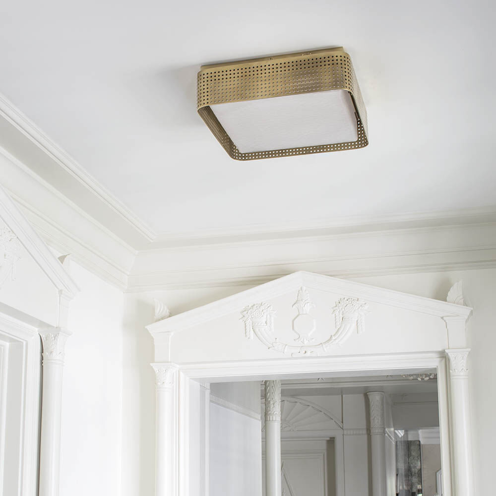 PRECISION LARGE FLUSH MOUNT - BRASS