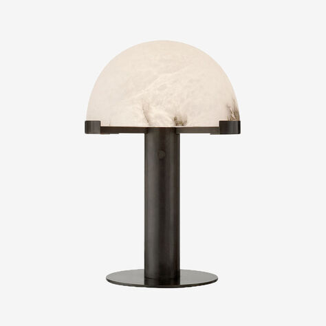 MELANGE DESK LAMP - BRONZE w/ ALABASTER