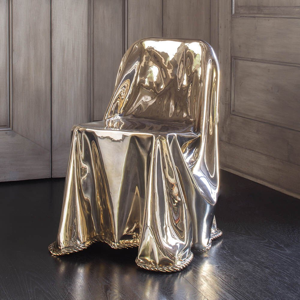 CALIA BRONZE DRAPED CHAIR