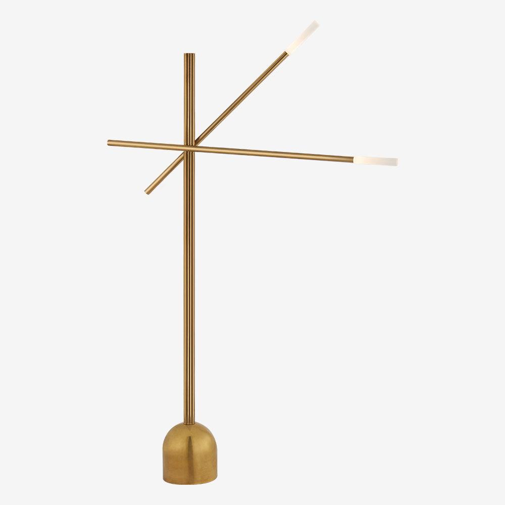 ROUSSEAU DOUBLE BOOM ARM FLOOR LAMP
