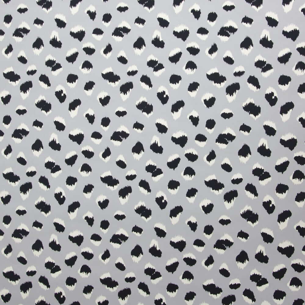 FELINE WALLPAPER - GREY BLACK