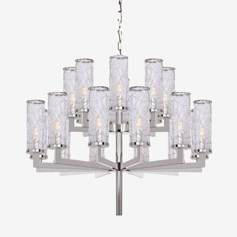 LIAISON TWO-TIER CHANDELIER - POLISHED NICKLE
