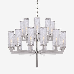 LIAISON TWO-TIER CHANDELIER