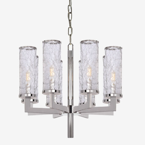LIAISON ONE-TIER CHANDELIER - POLISHED NICKLE