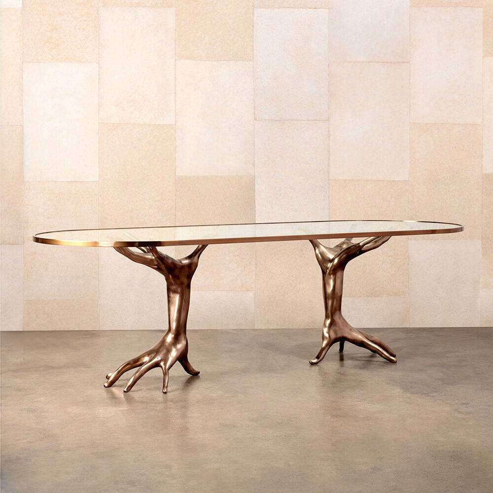 SUPERLUXE DICHOTOMY RACETRACK TABLE
