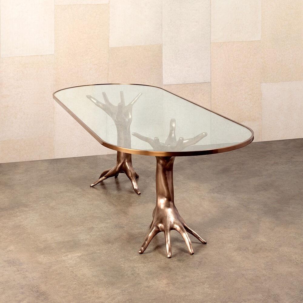 SUPERLUXE DICHOTOMY RACETRACK TABLE