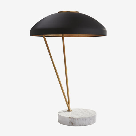 COQUETTE TABLE LAMP - BRASS w/ WHITE