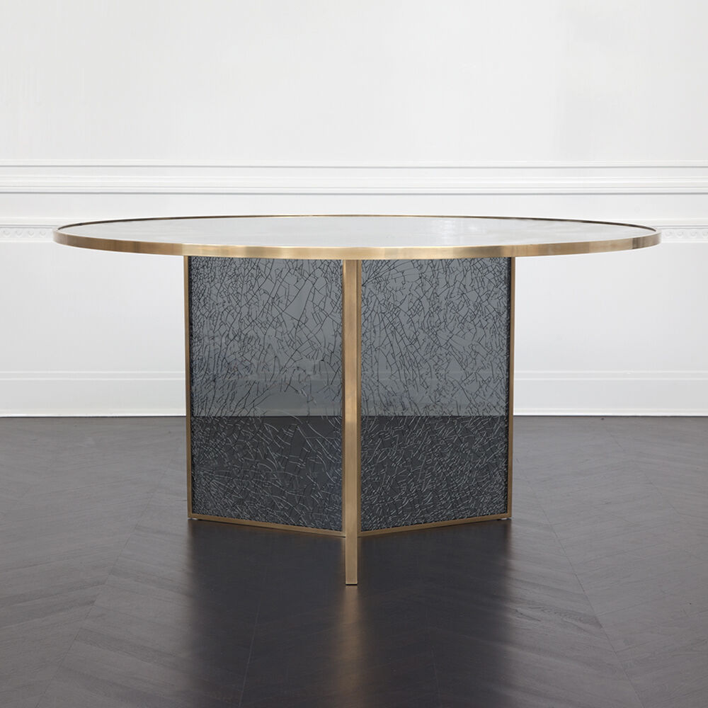 Superluxe Round Fractured Table