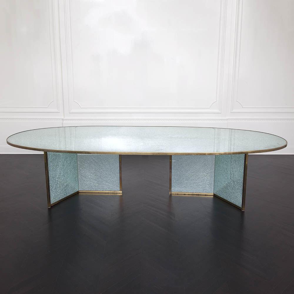 Superluxe Racetrack Fractured Table