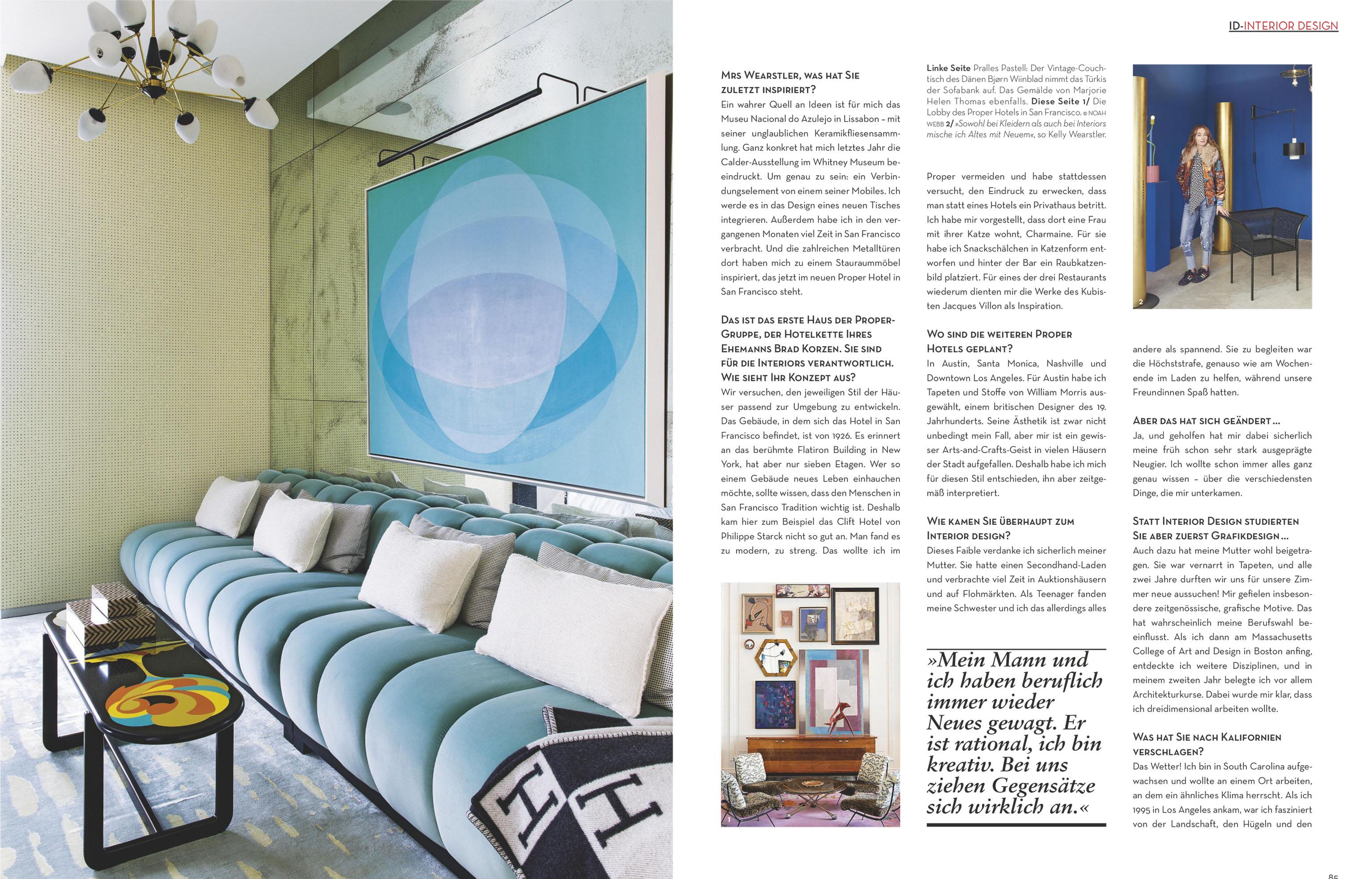 Kelly Wearstler Online Store Kelly Wearstler Press Feature Page