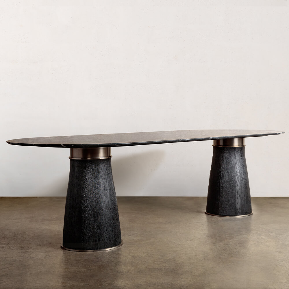 Camden Double Pedestal Dining Table High End Luxury Design Furniture And Decor Kelly Wearstler